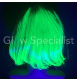 NEON GREEN WIG - SHORT BOBLINE WITH BANGS