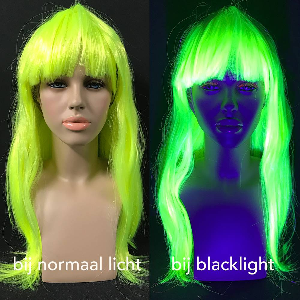 NEON YELLOW WIG - LONG STRAIGHT HAIR WITH