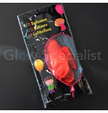 LED BALLOONS RED HEART - 5 PIECES
