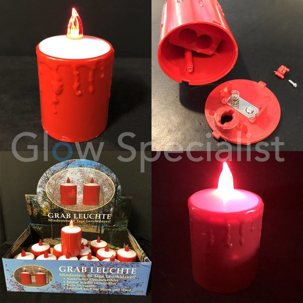 LED CANDLE RED