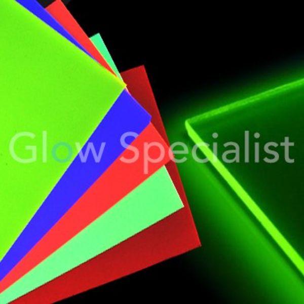 UV / BLACKLIGHT NEON ACRYLIC PLATE - 51 x 34 cm