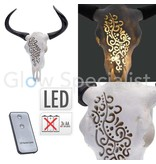 LED WALL DECORATION SKULL WITH HORNS - WITH REMOTE CONTROL