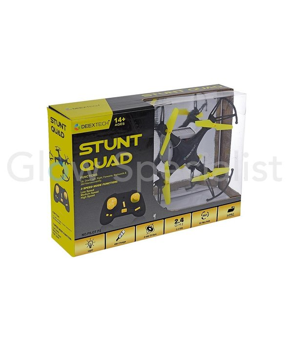 QUADCOPTER STUNT DRONE 156 MM MET USB EN CONTROLLER