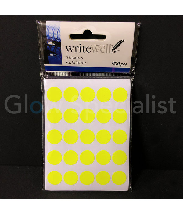 NEON YELLOW STICKERS - Ø14MM - 900 PIECES