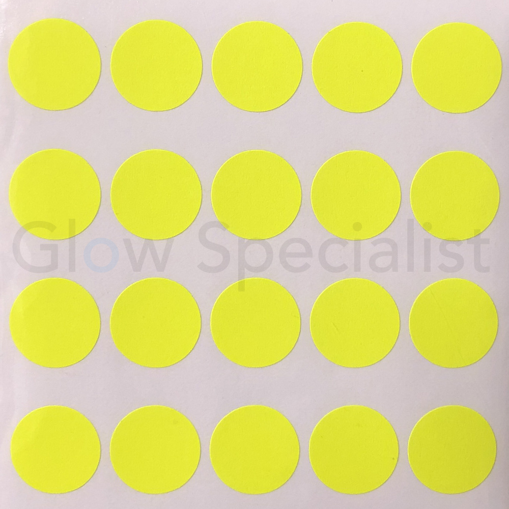 Neon yellow stickers ø14mm 900 pieces