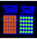 NEON ORANJE STICKERS - 13x19MM - 900 STUKS