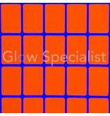 NEON ORANGE STICKERS - 13x19MM - 900 PIECES