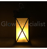 LED LANTERN WITH DECORATIVE FLAME EFFECT - CROSS