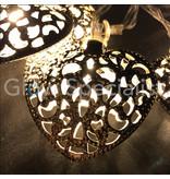 DECORATIEVE LED VERLICHTING MET 10 ZILVEREN HARTJES