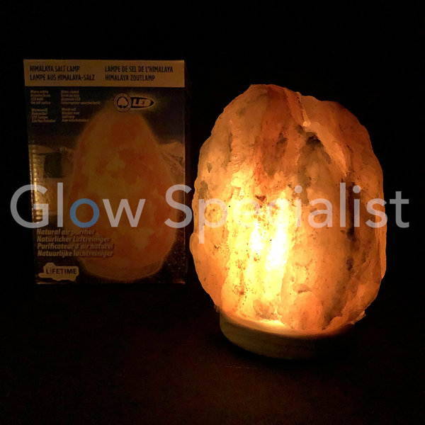 LED HIMALAYA ZOUTLAMP - WARM WIT - 15x15x22CM