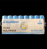 Grundig GRUNDIG ALKALINE BATTERIES - AA - 16 PIECES MULTIPACK