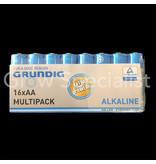 Grundig GRUNDIG ALKALINE BATTERIJEN - AA - 16 STUKS MULTIPACK