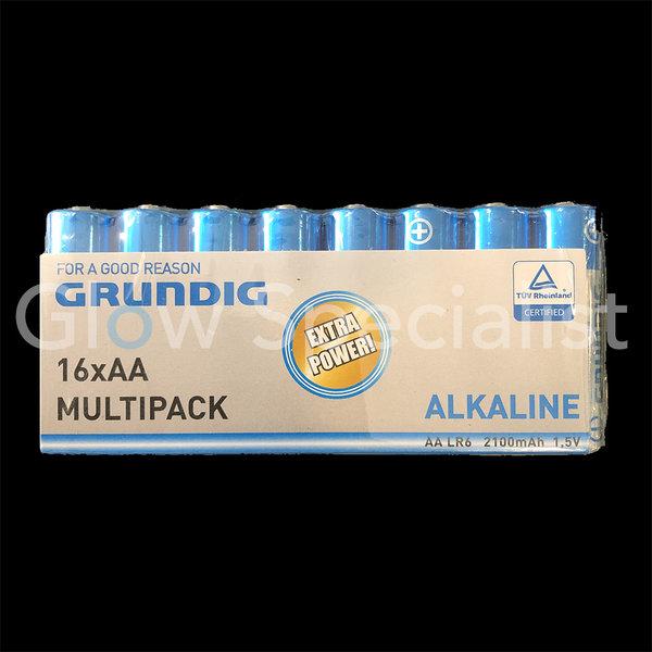 GRUNDIG ALKALINE BATTERIJEN - AA - 16 STUKS MULTIPACK