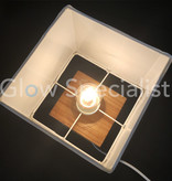 Grundig GRUNDIG TABLE LAMP - WOODEN BASE WITH FABRIC SHADE