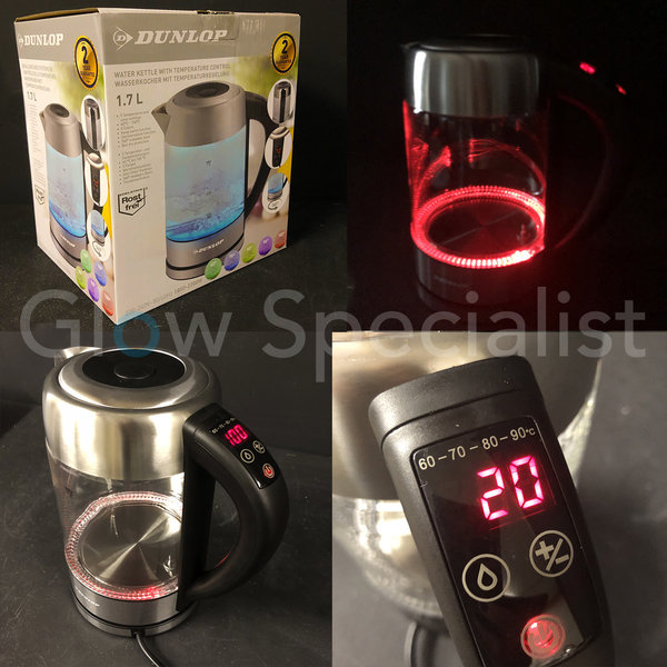 DUNLOP LED WATER KETTLE - WITH TEMPERATURE CONTROL