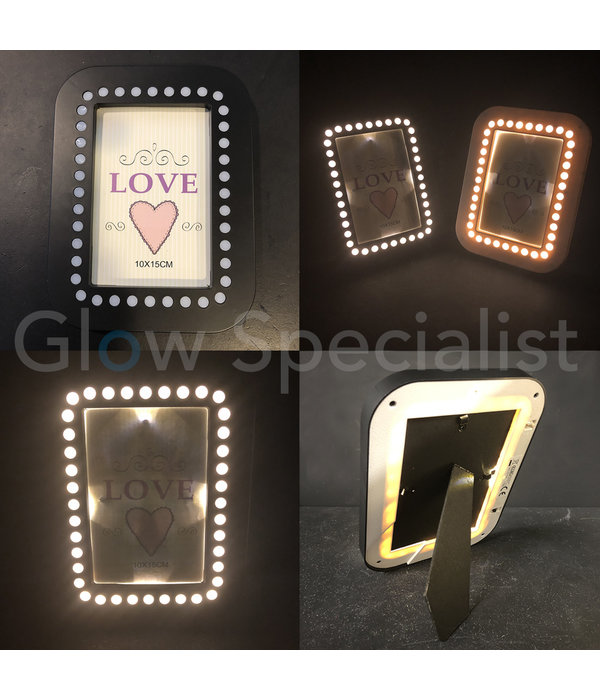 LED PHOTO FRAME - 20.5x15.5 CM - BLACK - 35 LED