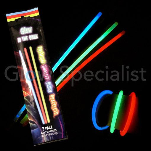 - Glow Specialist GLOW BRACELETS WITH CONNECTORS - 3 PIECES