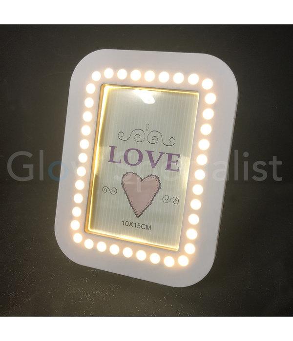 LED PHOTO FRAME - 20,5 x 15,5 CM - WHITE - 35 LED