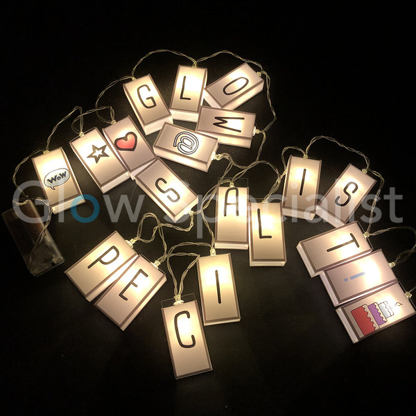 LED STRINGLIGHT WITH 85 LETTERS - 20 LED