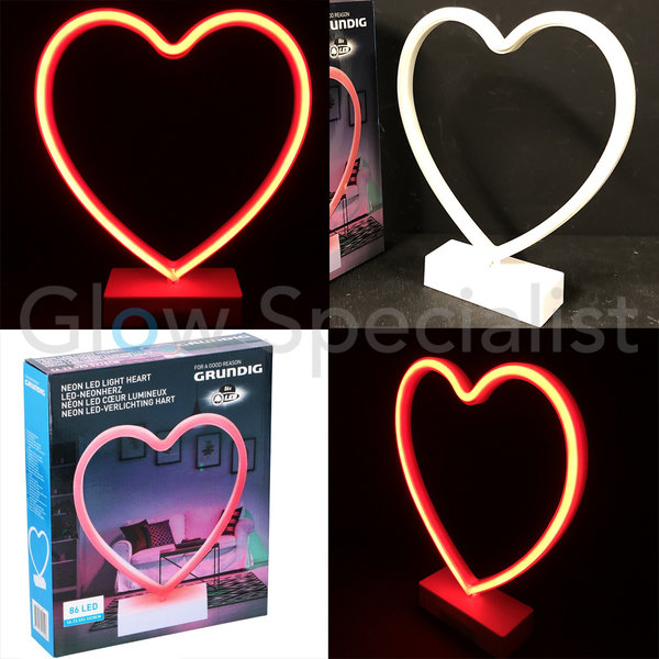 LED LIGHT NEON HEART - 86 LED
