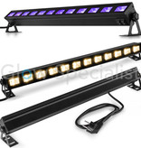 BeamZ UV 2-IN-1 LED BAR - BUVW123 - 12x 3W