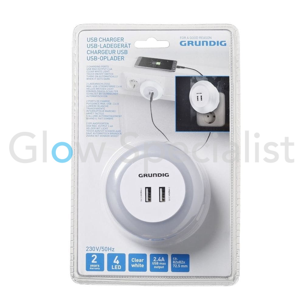 Grundig GRUNDIG NIGHT LIGHT WITH 2 USB CHARGERS