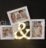 LED PHOTO FRAME & SIGN - 3 PHOTOS - 11 LED - WHITE
