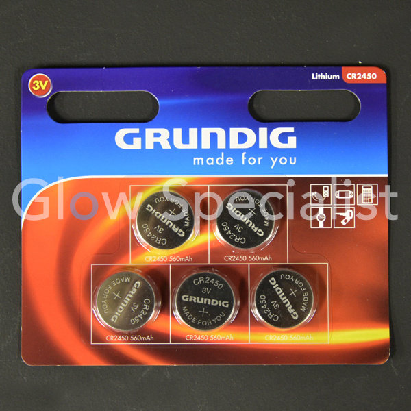 GRUNDIG CELL BATTERIES - CR2450 - 5 PIECES