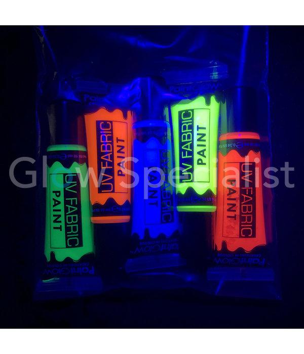 - PaintGlow PAINTGLOW UV TEXTIELVERF - SET VAN 5
