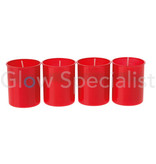 RED MEMORIAL LIGHTS / GRAVE CANDLES - 4 PIECES
