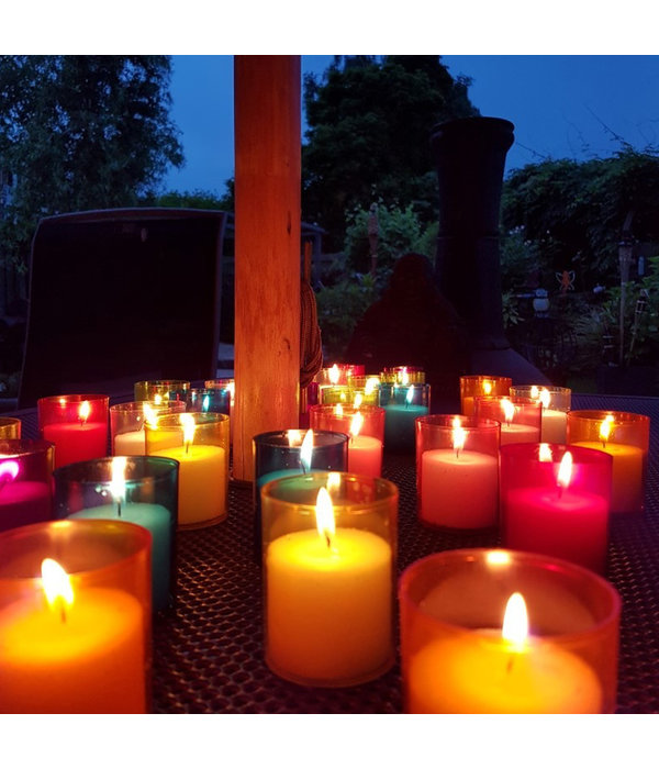 RED MEMORIAL LIGHTS / TOMB CANDLES - 4 PIECES