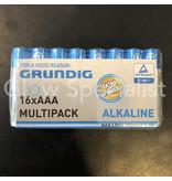 Grundig GRUNDIG ALKALINE BATTERIJEN - AAA - 16 STUKS MULTIPACK