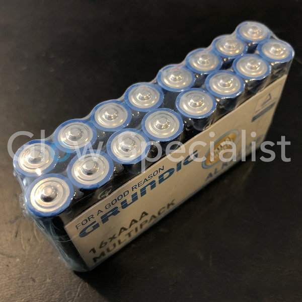 GRUNDIG ALKALINE BATTERIES - AAA - 16 PIECES MULTIPACK