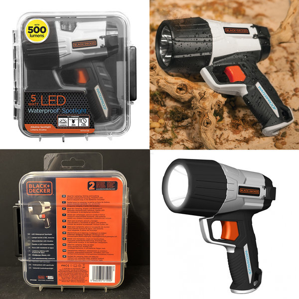 BLACK & DECKER LED WATERPROOF ZAKLAMP 500 LUMEN