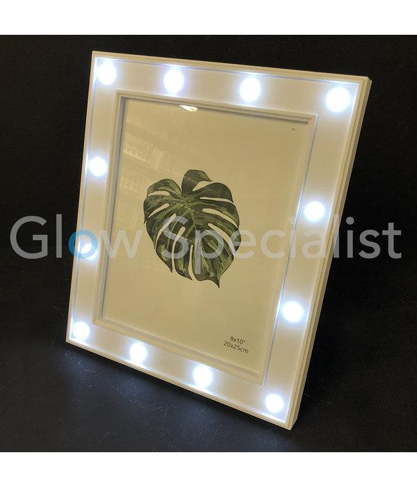 LED FOTOLIJST - 32,5 x 27,5 CM - WIT - 12 LED