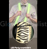 LED PARTY SUSPENDERS - WITH ZEBRA PATTERN