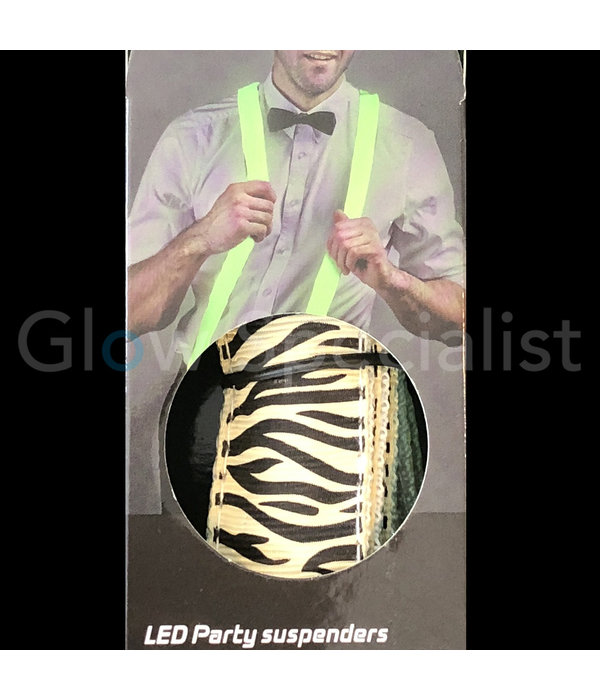 LED FEESTBRETELS - MET ZEBRA PRINT