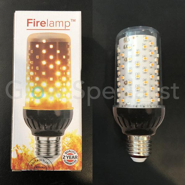 FIRELAMP™ 4W - 465 LUMEN - E27L - 96 SMD - 1830K - ZWART HELDER