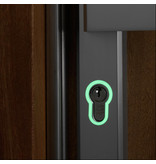 GLOW IN THE DARK KEY HOLE STICKER  - 3 PCS