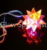 Flashing spike ball necklace