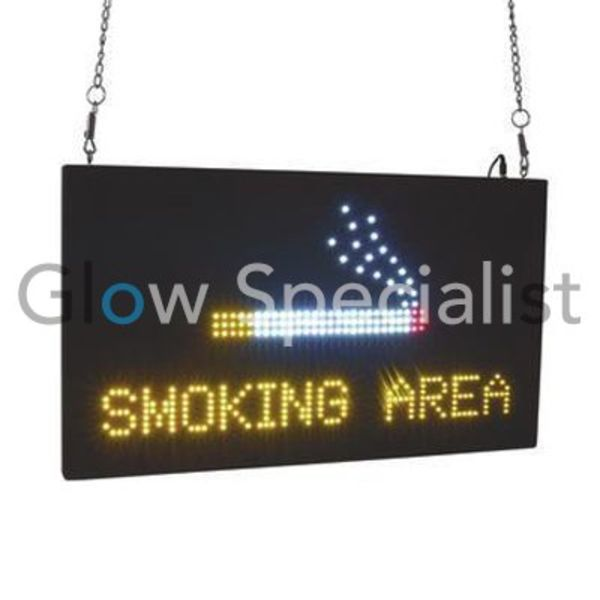 Eurolite LED Sign - SMOKING AREA