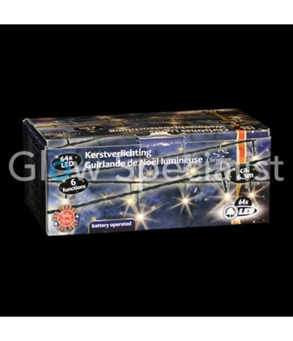 Led Kerstverlichting Wit 64 Lampjes Met 6 Lichtfuncties Glow