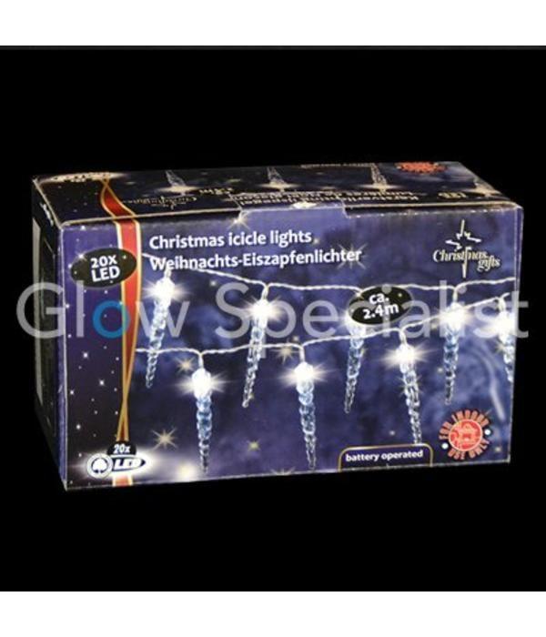 Led Kerstverlichting 20 Witte Ijspegels Glow Specialist Glow
