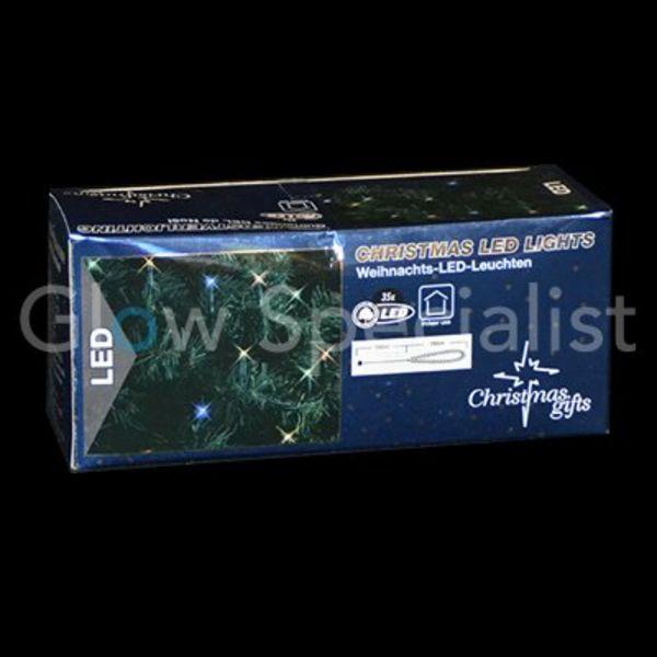 LED KERSTVERLICHTING MULTICOLOR - 35 LAMPJES