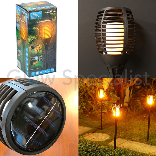SOLAR LIGHT FLAME - 72 LED