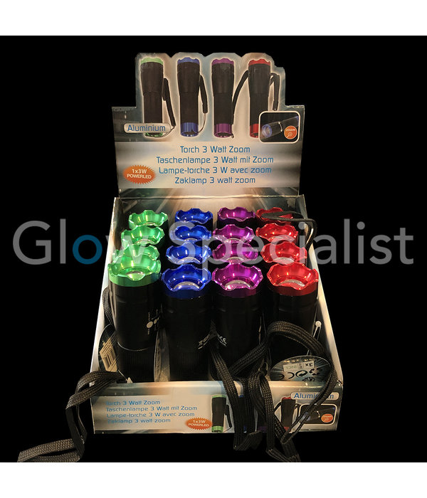 LED FLASHLIGHT 3 WATT - ZOOM