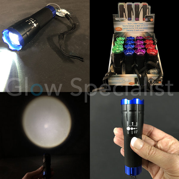 LED FLASHLIGHT 3 WATT - ZOOM