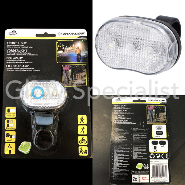 DUNLOP LED BIKE FRONT LIGHT - 3 LED