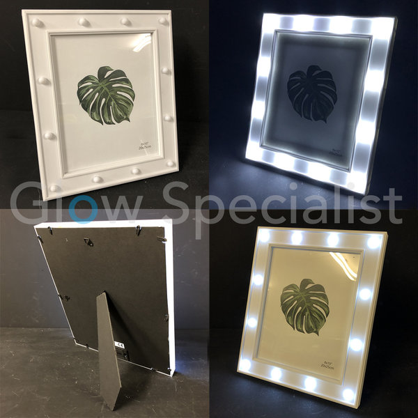 LED PHOTO FRAME - 32.5 x 27.5 CM - WHITE - 12 LED
