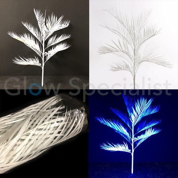 UV / BLACKLIGHT KENTIA PALM - 90 CM WIT